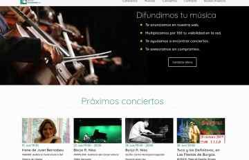 sitio web de músicos y grupos
