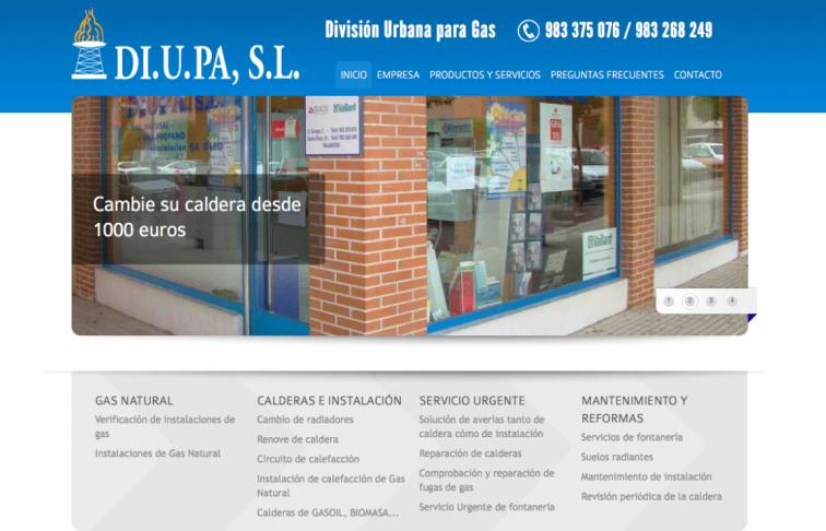 desarrollo web servicios instalaciones gas valladolid