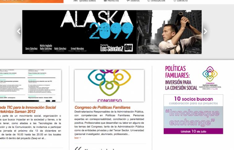 diseno web blog fundacion gizalab