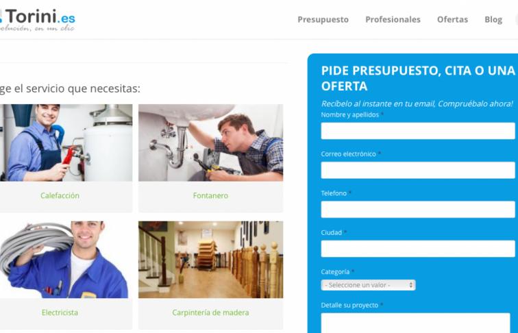 pagina web de presupuestos