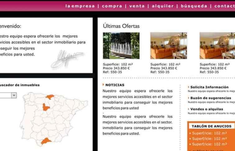 web para inmobiliaria valladolid