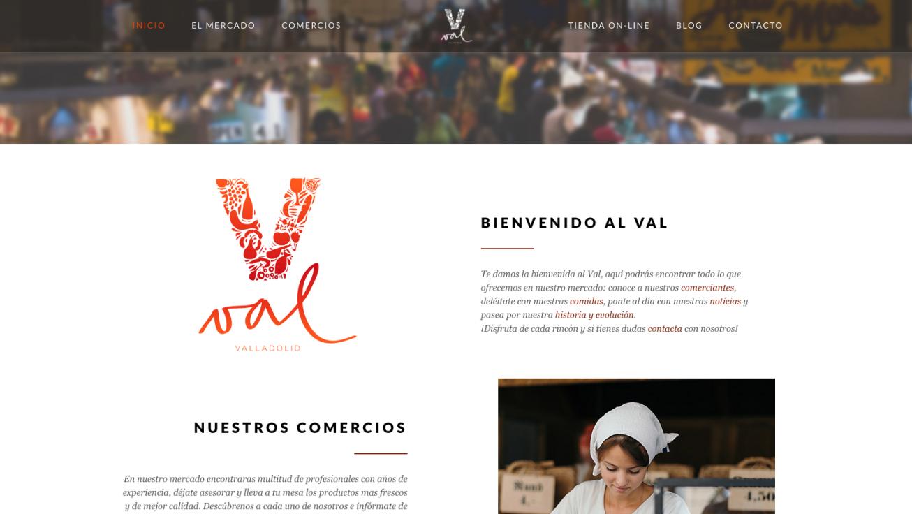 web Mercado del Val de Valladolid