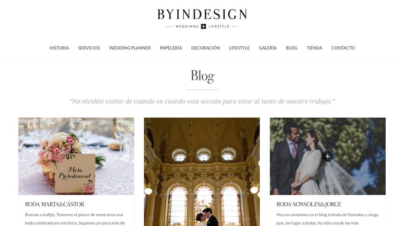web tienda online novias byindesign